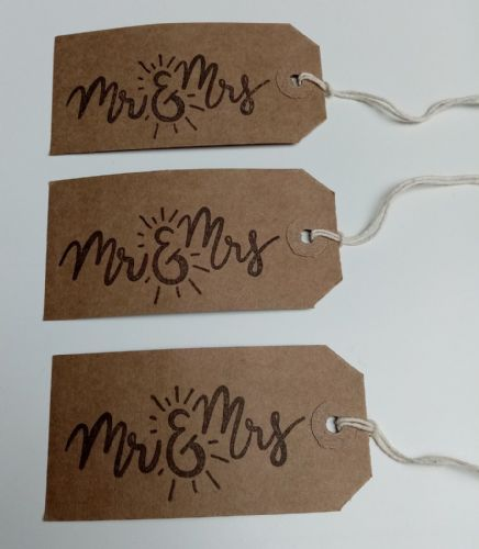 Mr & Mrs Tags 10pk